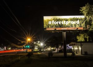 #forestproud billboard in Fernandina Beach Fall 2018