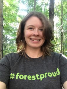 Selfie in #forestproud shirt