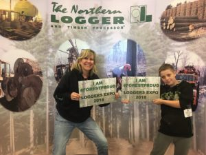 Selfie in #forestproud signs