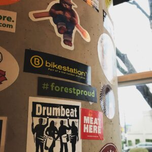 sticker on a wall in Portland