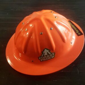Finally bought a proper hard hat - IG user @timber_n_trout
