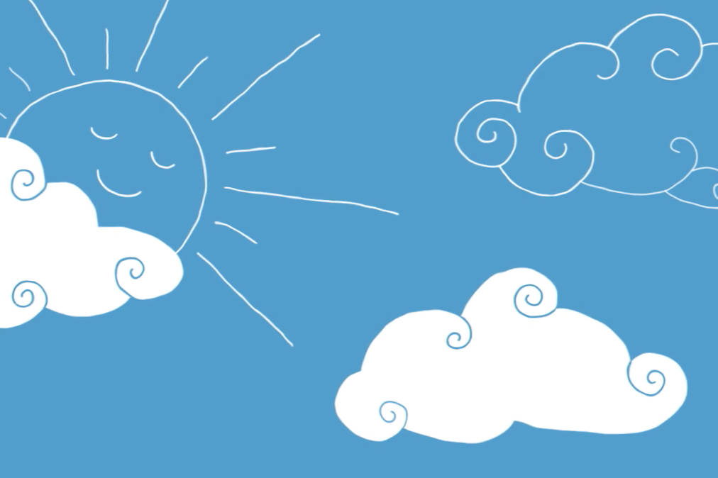 Clouds and Sun Illustration