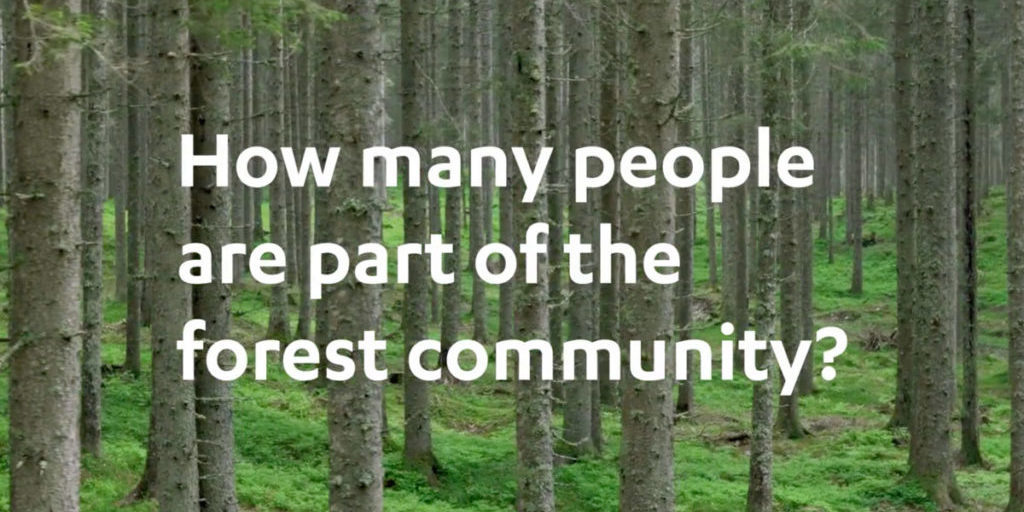 How many people are part of the forest community?